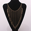 cheap Necklaces-Women's Tassel Choker Necklace / Statement Necklace / Vintage Necklace - Statement, Tassel, European Silver, Bronze, Golden Necklace For Party, Daily, Casual