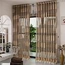 preiswerte Gardinen-Ösen plissiert zwei Panele Window Treatment Europäisch, Hohl-Gravur Streifen Kurve Wohnzimmer Polyester Stoff Gardinen Shades Haus