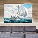 levne Abstraktní malby-Hang-malované olejomalba Ručně malované - Krajina Klasické evropský styl Moderní Plátno