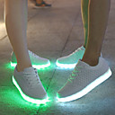 cheap Men's Sneakers-Men's Comfort Shoes Leather Spring / Fall Slip Resistant White / Black / Lace-up / Light Up Shoes / EU42