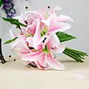 hesapli Masa Lambaları-Yapay Çiçekler 1 şube Düğün Çiçekleri Lilies Masaüstü Çiçeği