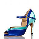 abordables Zapatos de Baile Latino-Mujer Latino Samba Salsa Satén Sandalia Tacones Alto Interior Rendimiento Profesional Principiante Entrenamiento Hebilla Tacón