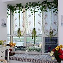 baratos Cortinas Transparentes-Sheer Curtains Shades Sala de Estar Curva Poliéster Bordado