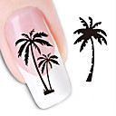 voordelige Watertransfer nagelstickers-1 pcs 3D Nagelstickers Water overdracht sticker Nagel kunst Manicure pedicure Schattig Abstract / Modieus Dagelijks / 3D-kynsitarrat
