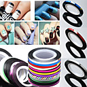 billige Folie af papir-1 pcs 3D Negle Stickers Nail Foil Striping Tape Negle kunst Manicure Pedicure Abstrakt / Mode Daglig / 3D Nail Stickers / Folie Stripping Tape