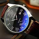 abordables Relojes de Hombre-Hombre Reloj de Pulsera Resistente al Agua / Luminoso Piel Banda Encanto Negro / Marrón / Acero Inoxidable