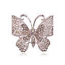 abordables Broches-Mujer Broche - Brillante, Plateado, Diamante Sintético Mariposa, Animal Lujo, Europeo, Moda Broche Para Boda / Fiesta / Diario
