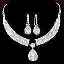 cheap Jewelry Sets-Women's Synthetic Diamond Jewelry Set - Rhinestone Drop Elegant, Bridal Include Drop Earrings / Pendant Necklace For Wedding / Party / Anniversary