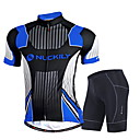 cheap Cycling Jersey & Shorts / Pants Sets-Nuckily Men's Short Sleeves Cycling Jersey with Shorts - Black Geometic Bike Clothing Suits, Quick Dry, Anatomic Design, Ultraviolet