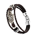 cheap Religious Jewelry-Leather Bracelet - Leather Bracelet Black / Brown For Christmas Gifts / Wedding / Daily
