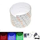 billige LED-stringlys-ZDM® 2.5m Lyssett 150 LED 5050 SMD 1 24Kjør fjernkontrollen / 1 x 2A strømadapter RGB Vanntett / Kuttbar / Koblingsbar 100-240 V 1set / IP65 / Passer for kjøretøy / Selvklebende