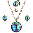 cheap Men's Necklaces-Women's Jewelry Set - Butterfly, Animal, Galaxy Simple Style Include Brown For Party Daily Casual / Earrings / Necklace / Bracelets & Bangles