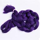 billige Hårfletter-Hår til fletning Box Braids Jumbofletter / Hairextensions med menneskehår 100% kanekalon hår / Kanekalon 3 røtter Hårfletter Daglig