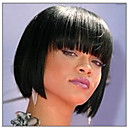 cheap Human Hair Capless Wigs-Synthetic Wig Straight Kardashian Style Bob Capless Wig Black Natural Black Synthetic Hair Women's Black Wig Short hairjoy