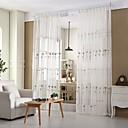 halpa Harsoverhot-Purjerengas Kynälaskostettu 2 paneeli Window Hoito Moderni Eurooppalainen Kantri, Kirjailu Living Room Polyester/puuvillaseos materiaali