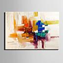 preiswerte Ölgemälde-Hang-Ölgemälde Handgemalte - Abstrakt Europäischer Stil Segeltuch / Gerollte Leinwand