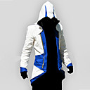 cheap Videogame Costumes-Inspired by Assassin Conner Anime Cosplay Costumes Cosplay Hoodies Print Patchwork Long Sleeves Top For Men's Women's