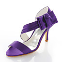 cheap Wedding Shoes-Women's Shoes Stretch Satin Spring / Summer Stiletto Heel Satin Flower Purple / Wedding / Party & Evening
