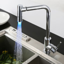 cheap Flashlights & Camping Lanterns-Kitchen faucet - Single Handle One Hole Chrome Standard Spout / Tall / High Arc Centerset Contemporary / Art Deco / Retro / Modern