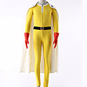 cheap Videogame Cosplay Accessories-Inspired by One-Punch Man Cosplay Anime Cosplay Costumes Cosplay Suits Solid Colored Leotard / Onesie / Gloves / Belt For Men's / Women's