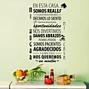 baratos Adesivos de Parede-Autocolantes de Parede Decorativos - Etiquetas de parede de palavras e citações Paisagem / Animais / Romance Sala de Estar / Quarto /