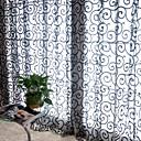 abordables Cortinas Transparentes-Corredizo Un Panel Ventana Tratamiento Campestre, Estampado Sala de estar Poliéster Material cortinas cortinas Decoración hogareña