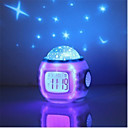 abordables Lámparas LED-HRY 1pc Reloj despertador musical Sky Projector NightLight Colorido Pilas AAA alimentadas Para Niños / Regulable / Color variable Batería / 5 V