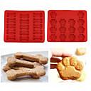 preiswerte Softshell, Fleece & Wanderjacken-2er Set Welpen Haustiere Hund Pfoten und Knochen Silikon Kuchen Schimmel Eiswürfelschale