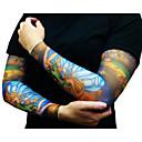 זול sleeve tattoos-תבנית / חג ליל כל הקדושים / קרם הגנה זרוע קעקועים זמניים 2 pcs סדרת Totem / סדרת בעלי חיים / סדרות פרחים אמנות גוף יומי