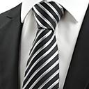 billige Tilbehør til herrer-Herre Fest / Kontor / Grunnleggende Slips Stripet
