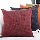 cheap Pillow Covers-4 pcs Polyester Pillow Cover, Textured Modern / Contemporary / Office / Business / Accent / Decorative