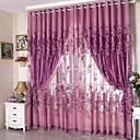 cheap Curtains Drapes-Sheer Curtains Shades Living Room Polyester Jacquard
