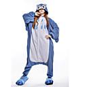 abordables Pendientes-Adulto Pijamas Kigurumi Búho Pijamas de una pieza Disfraz Lana Polar Azul Cosplay por Ropa de Noche de los Animales Dibujos animados Víspera de Todos los Santos Festival / Celebración / Navidad