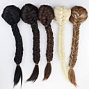 זול קוקו-נתפס עם קליפס קוקו שיער סינטטי חתיכת שיער הַאֲרָכַת שֵׂעָר מתולתל