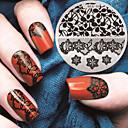 billige Jul Nail Art-1 pcs Stempling plade Skabelon Moderigtigt Design Negle kunst Manicure Pedicure Stilfuld / Mode Daglig / Stempling Plate / Metal