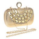 cheap Women's Sandals-Women's Bags Polyester Evening Bag Rhinestone / Crystal Gold / Silver