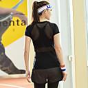 baratos Camisas, Shorts & Calças de Corrida-Mulheres Camiseta de Corrida Esportes Camiseta / Blusas Ioga, Fitness, Ginásio Manga Curta Roupas Esportivas Secagem Rápida Elasticidade Alta