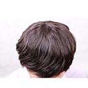 billige Lukning og frontside-Ekte hår Tupéer Rett 100 % håndknyttet Monofilament