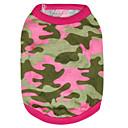 billige Hundetøj-Kat Hund T-shirt Hundetøj camouflage Rose Grøn Bomuld Kostume For kæledyr Herre Dame Mode