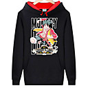 cheap Men's Bracelets-Inspired by One Piece Monkey D. Luffy Anime Cosplay Costumes Cosplay Hoodies Print Long Sleeve Top For Men's Halloween Costumes