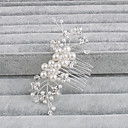 cheap Party Headpieces-Pearl Hair Combs with 1 Wedding / Special Occasion / Casual Headpiece