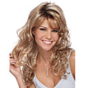 cheap Wallets-Synthetic Wig Body Wave Blonde With Bangs Synthetic Hair Side Part Blonde Wig Women's Medium Length Blonde