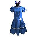 preiswerte Anime-Kostüme-Inspiriert von Fairy Tail Cosplay Anime Cosplay Kostüme Cosplay Kostüme / Kleider Patchwork Kurzarm Kleid / Stirnband Für Damen Halloween Kostüme
