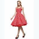 זול תיקי צד-כתפיה קפלים, מנוקד - שמלה גזרת A מידות גדולות בגדי ריקוד נשים