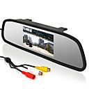 "billige Bilryggekamera-4.3 ""bil bakspeilet LCD display skjerm + 170 ° vidvinkel reversere parkering kamera"