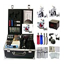 cheap Necklaces-BaseKey Professional Tattoo Kit Tattoo Machine - 3 pcs Tattoo Machines, Professional Alloy 20 W LCD power supply 3 steel machine liner & shader / Case Included