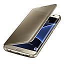 رخيصةأون لمبات LED-غطاء من أجل Samsung Galaxy Samsung Galaxy S7 Edge نوم / استيقاظ أتوماتيكي / تصفيح / مرآة غطاء كامل للجسم لون سادة الكمبيوتر الشخصي إلى S8 Plus / S8 / S7 edge