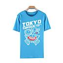 tanie Bluzy Anime-Zainspirowany przez Tokyo Ghoul Ken Kaneki Anime Kostiumy cosplay T-shirt Cosplay Nadruk Krótki rękaw Top Na Męskie