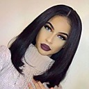 cheap Bed Pillows-natural hairline virgin human hair silky straight bob style glueless lace wig