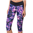 cheap Fitness, Running & Yoga Clothing-Women's Patchwork Yoga Pants - Purple Sports Geometry High Rise Pants / Trousers / Sweatshirt / Baselayer Running, Fitness, Gym Activewear Quick Dry, Breathable, Compression Stretchy